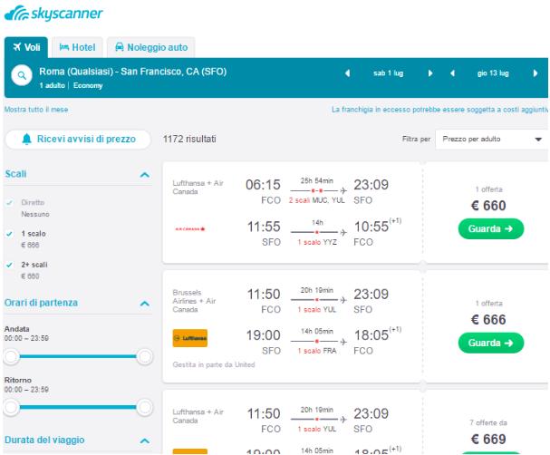 Risparmiare sui voli con Skyscanner