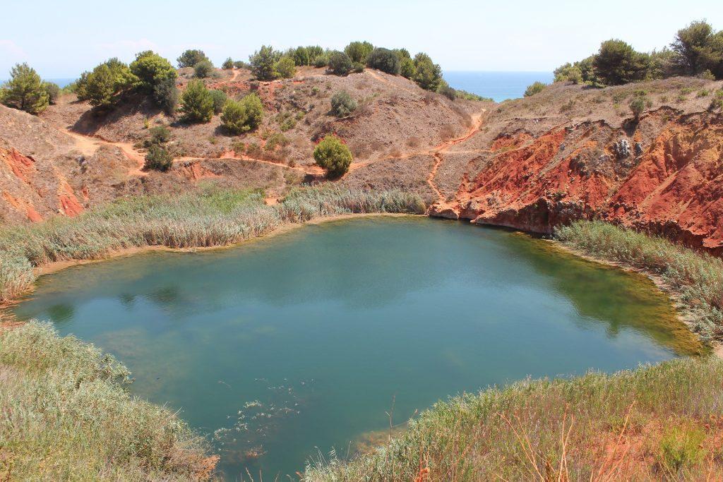 Cava di Bauxite vicino ad Otranto in Salento, Puglia