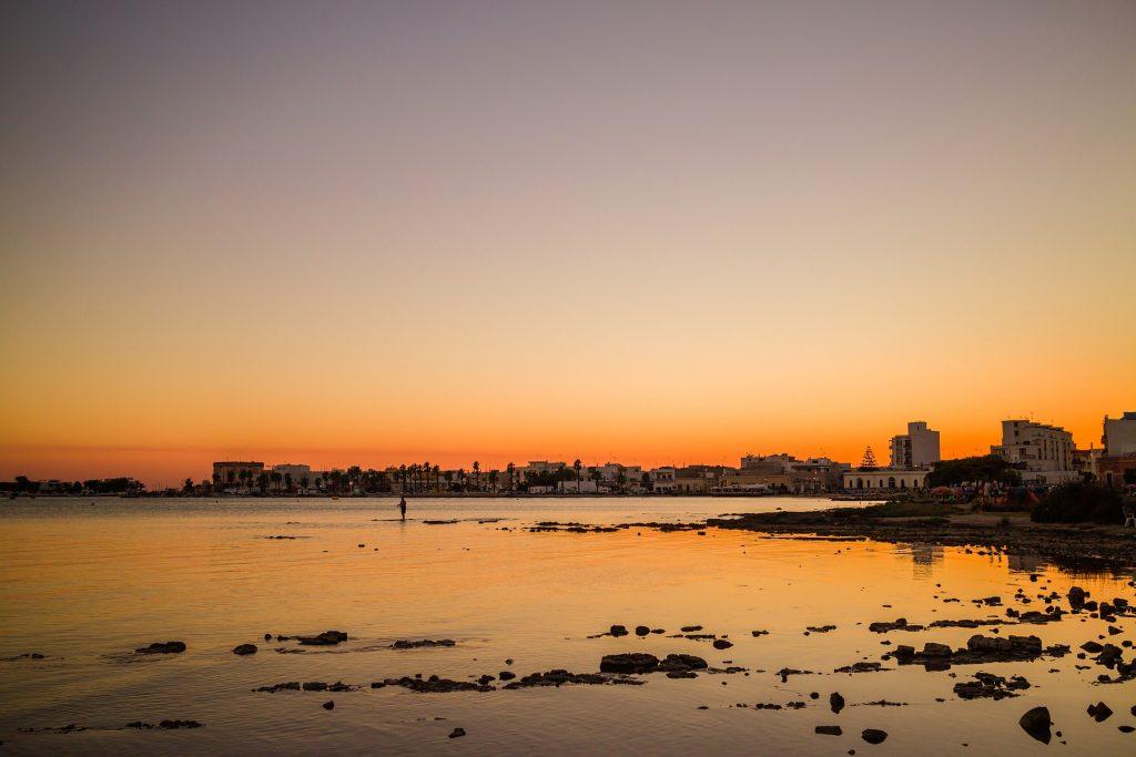 Tramonto coste del Salento, Porto Cesareao