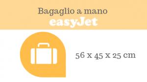 peso dimensioni e misure bagaglio a mano Easyjet