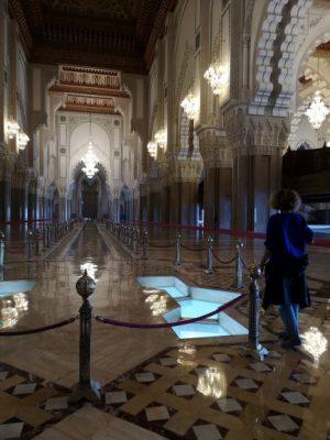 visitare casablanca, interno moschea hassan 2