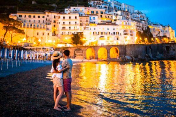 transfer costiera amalfitana - Amalfi di notte